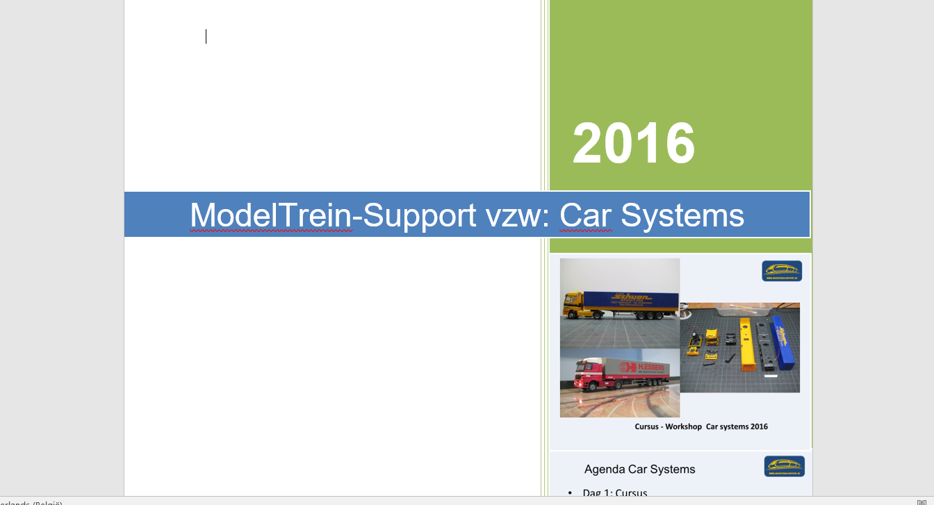 Cursusdocument Car Systems 2016 (3 delen)